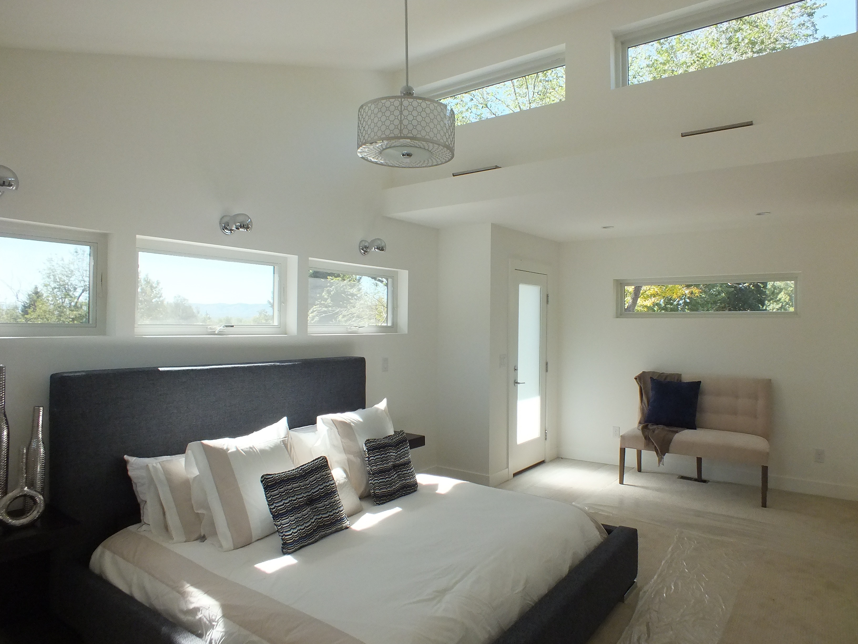 Modern Master Suite Vaulted Ceiling